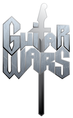 guitar wars logo metal