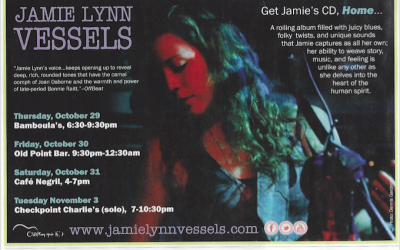Jamie Lynn Vessels' albums reviewed in OffBeat