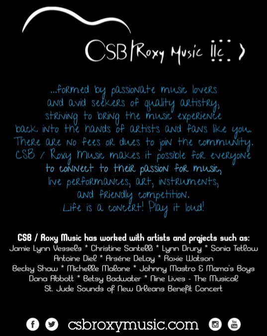 CSB / Roxy Music featured in OffBeat Magazine