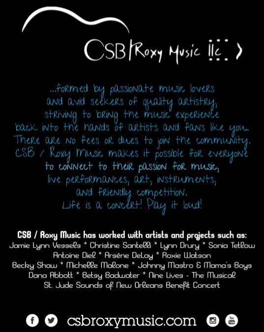 CSB / Roxy Music featured in OffBeat Magazine